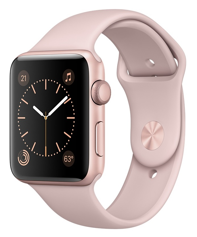 Купить Apple Watch Sport Series 1 38mm Rose Gold with Pink Sand Sport Band в Ростове-на-Дону
