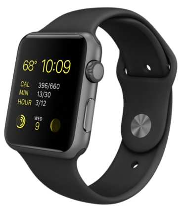 Купить Apple Watch Sport Series 1 42mm Space Gray with Black Sport Band в Ростове-на-Дону