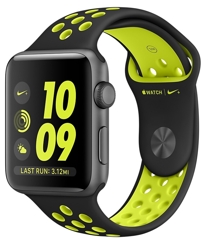 Купить Apple Watch Nike+ 42mm Space Gray with Black/Volt Nike Sport в Ростове-на-Дону