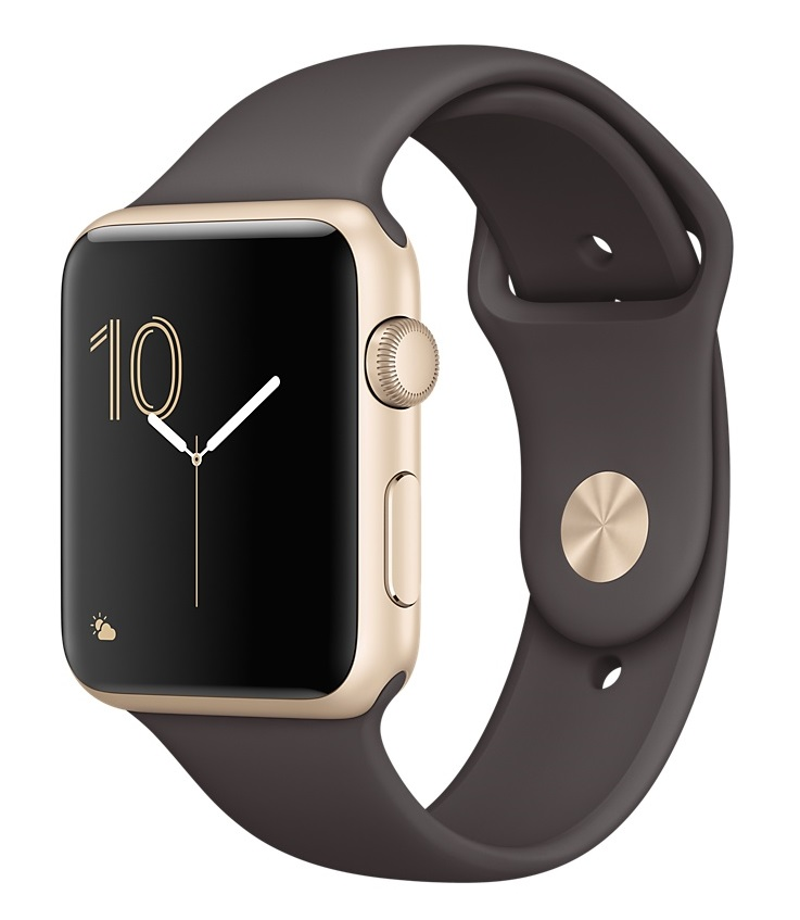 Купить Apple Watch Sport Series 1 42mm Gold with Cocoa Sport Band в Ростове-на-Дону